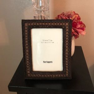 Pier 1 Accents - Pier 1 Brown Beaded Frame